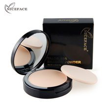 New NICEFACE Makeup Pores Cover Hide Blemish Face Pressed Powder Oil control