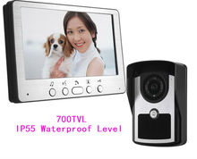 Freeship 700TVL 7 Inch Video font b Door b font Phone TFT LCD Video Monitoring Intercom