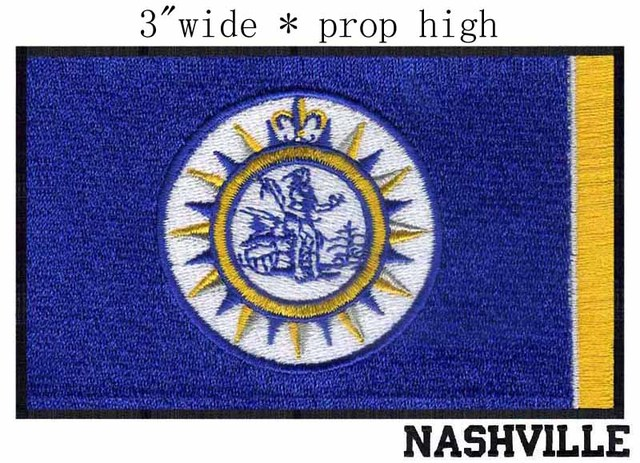 Nashville Tennessee Usa Flag 3 Wide Embroidery Patch For The Gear