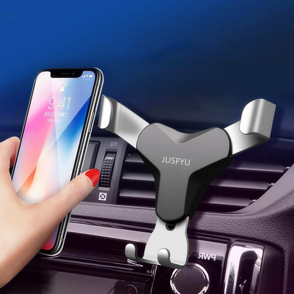 Gravity Car Phone Holder Universal Smartphone Mobile Phone Holder Stand Support Car Phone Stand Air Vent For iPhone X Xiaomi mi8 mobile phone car vent holder
