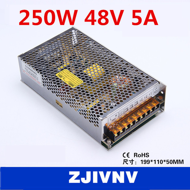 factory price 250W 48V 5A SMPS single output switching power supply ...