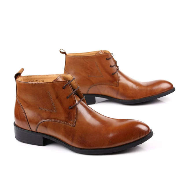 6ed93348cf0ad placeholder Italian Brand Men Winter Office Work Dress Shoes Lace Up  Business Party Formal Ankle Boots Male