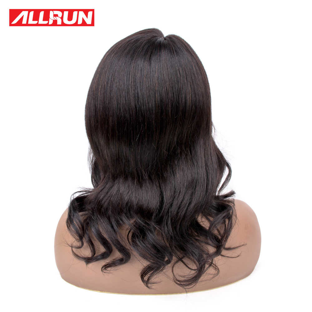 Allrun тела волна боковая часть Синтетические волосы на кружеве парики человеческих волос Боб парик Для женщин натуральный уха до уха Малайзии человеческих волос Синтетические волосы на кружеве парики