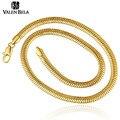 Valen bela casual mulheres banhado a ouro homens jóias colgante colar para o homem do sexo masculino cadeia cobra binários xl1586