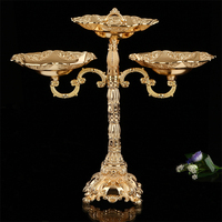 Europe gold palted alloy metal candle holders candlestick chandelier bougeoir sur pied for wedding decoration candlestick ZT018