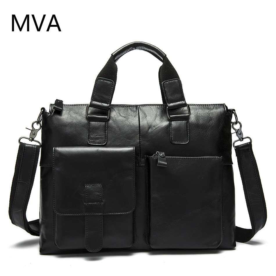 MVA Genuine Leather Bag Men Shoulder Crossbody Bags Men's Travel Messenger Bags Briefcases Leather Laptop Handbag Men Bag mva genuine leather men bag business briefcase messenger handbags men crossbody bags men s travel laptop bag shoulder tote bags