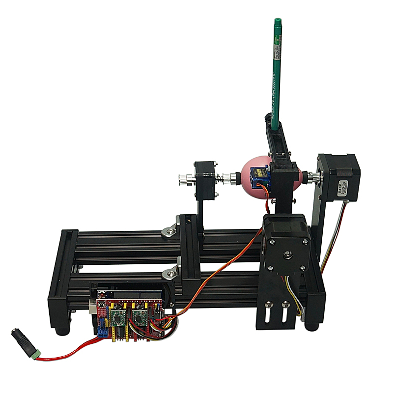Demontiert große größe LY Ei-zeichnung roboter 220V 110V bildung kinder zeichnung auf ei und ball ziehen maschine