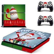 Christmas Design For PS4 Skin Vinyl Decal Sticker For Playstation 4 Console+2Pcs Controller Gamepad Stickers