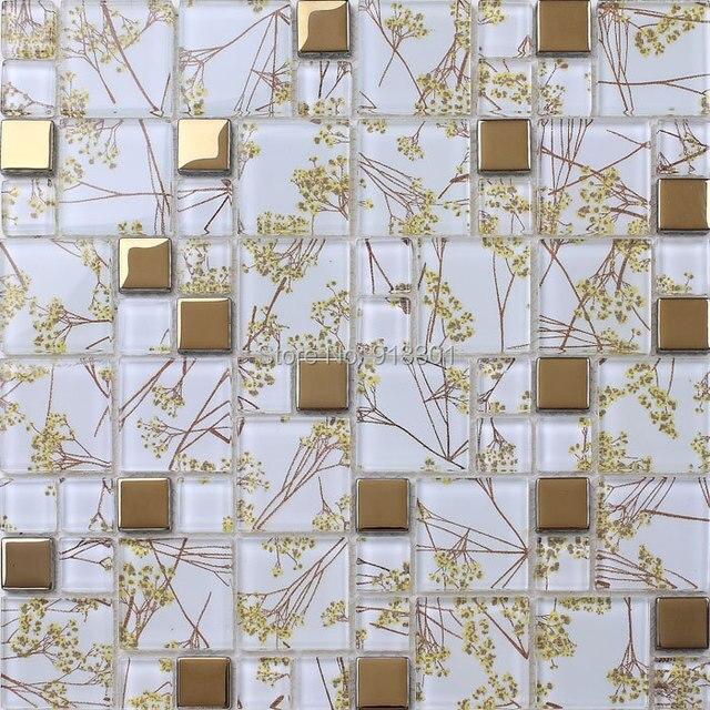 Backsplash de la cocina azulejos de mosaico de vidrio para las ...