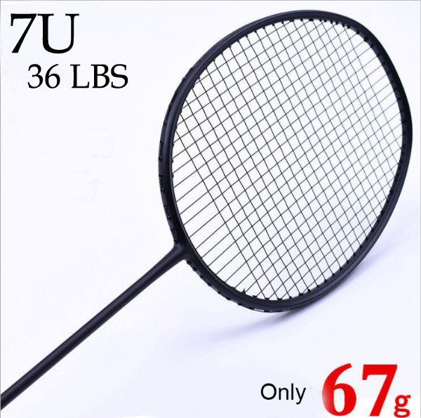 Badminton Racket 100% Carbon Badminton Racquet 4U 5U 6U 7U 1