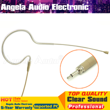 4Pcs Skin Wired Single Earhook Condenser Microphone 3.5mm Screw Connector Headset Mic For Karaoke Wireless BodyPack Transmitter