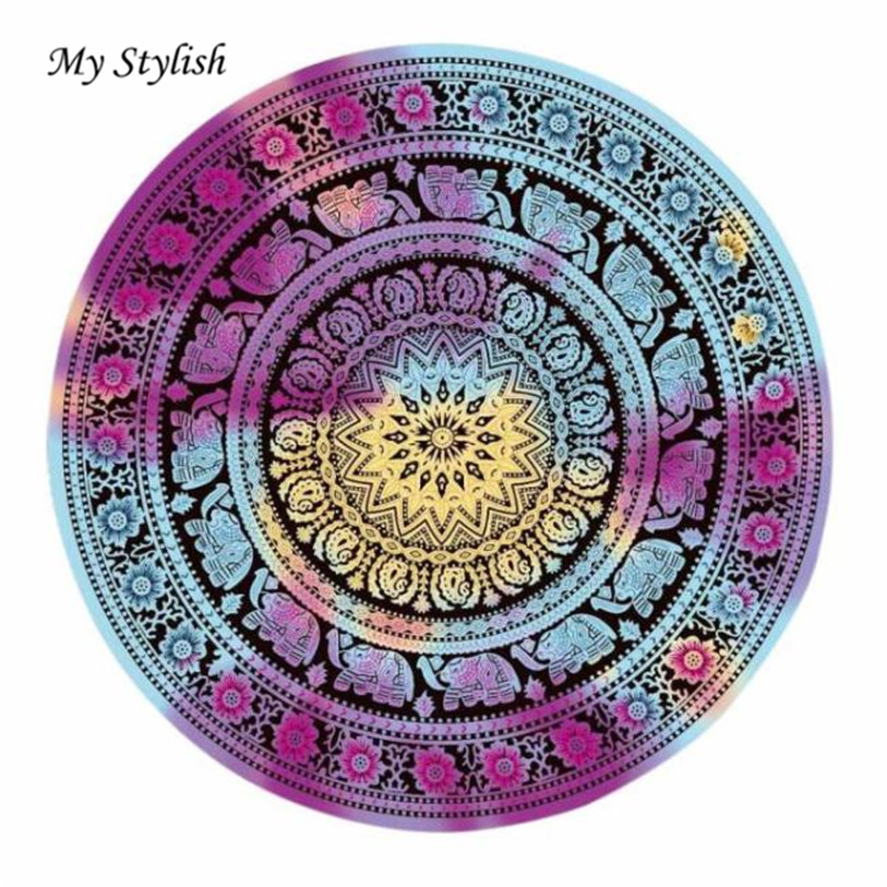 Hot 2017 Durable Beautiful Round Beach Pool Home Shower Towel Blanket Table Cloth Mat High Quality Jan 6