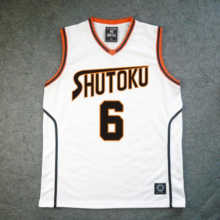 Kuroko no Basuke shutoku  #6 Jersey Midorima Shintaro Cosplay Costume Free Shipping