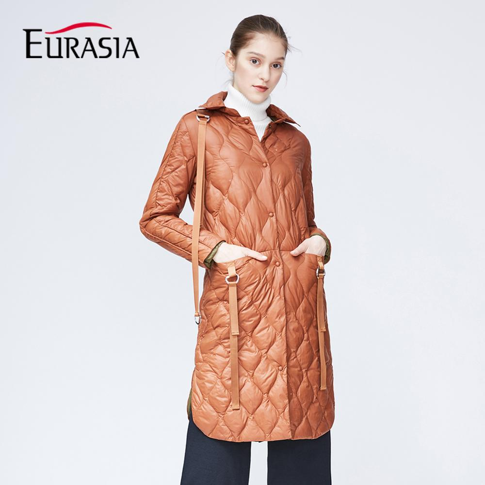 EURASIA 2018 Womens Coat High Quality Autumn And Spring Long Trench Coat For Women Windbreaker MD1838