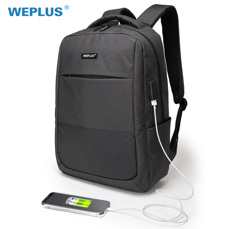 WEPLUS Backpack Men 15.6 inch Laptop USB Charging Backpacks Multifunction Travel Bagpack Women Anti Thief Mochila Male Free Ship