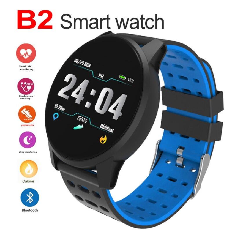 2019 B2 Bluetooth montre intelligente Sport Fitness Tracker moniteur de fréquence cardiaque écran tactile Bracelet pour Android IOS