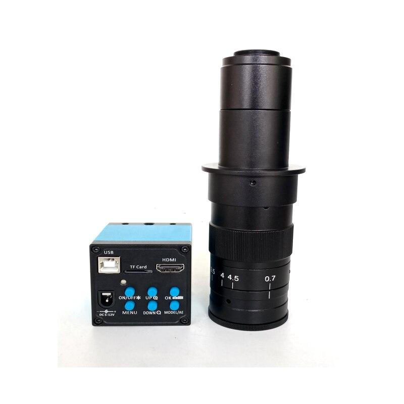 1080 P 16MP HDMI USB soudure IC vidéo Microscope caméra + 180X 300X c-mount lentille téléphone réparation