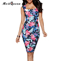 Sexy Bodycon Summer Dress Women New Arrival Elegant Floral Print Women Dress 2017 European Style Casual Ladies Pencil Dresses
