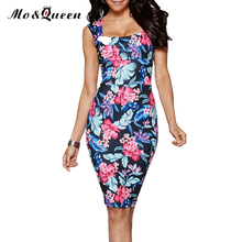 Sexy Bodycon Summer Dress Women New Arrival Elegant Floral Print Women Dress 2016 European Style Casual Ladies Pencil Dresses