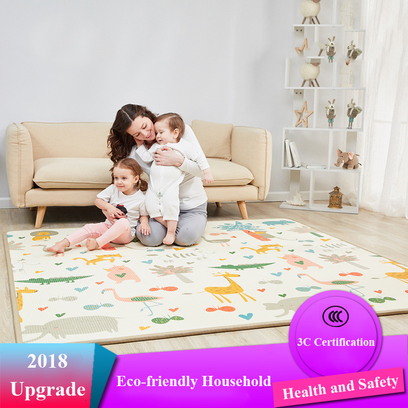 Infant Shining 200X180X2CM Baby Play Mat Thickening Children Game Rug Education EPE Living Room Carpet Large Easy Clean Mat infant shining play mat nordic style rugs and carpets for living room bedroom soft velvet kid s game mat coffee table carpet