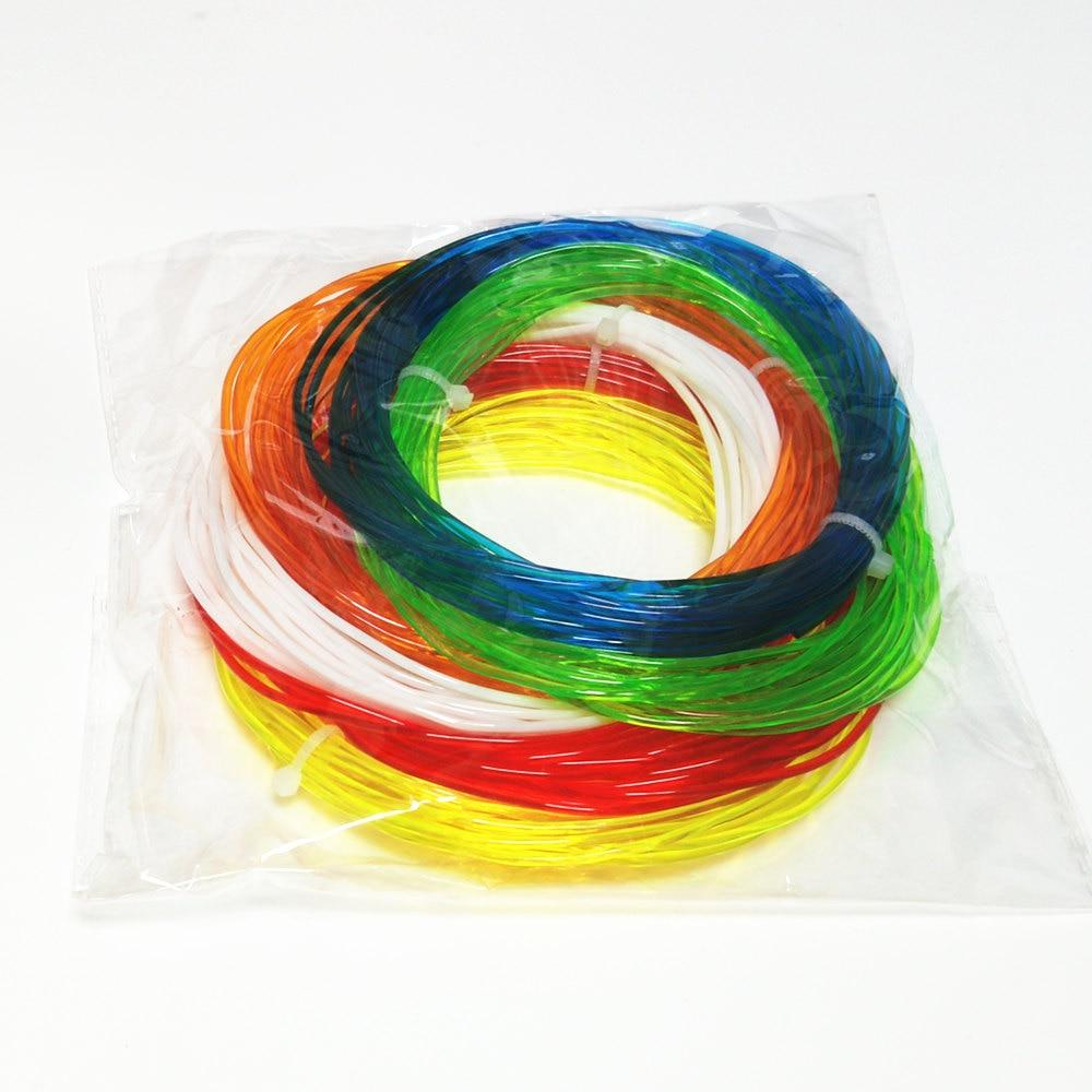 Popular TPU Flexible Soft 3D Printing material Filament 1.75mm 5or10Meters*6Colors Total 30-60Meters 3D Printer and 3D Modeling