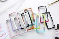 Pour Sansung Galaxy S10 S9 S8 Plus S10e étui Wolnutt couleur de contraste doux TPU plastique bicolore Dots cadre étui avec lanière pare-chocs