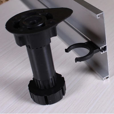 20Pcs/Lot Adjustable 100 120mm Plastic Cabinet Leg Kitchen Leveler With  Clips (2clips