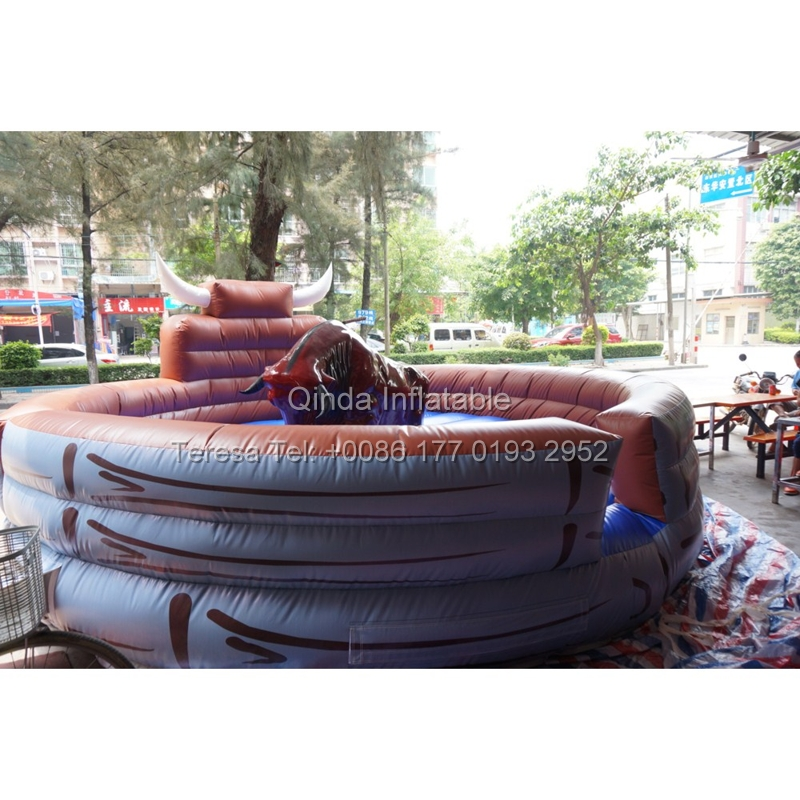 2017 Hot Sale Inflatable Machine Mechanical Bull Mat Inflatable Rodeo Bull Rides Mat Only The Mat hot sale mechanical shear blades for shearing machine