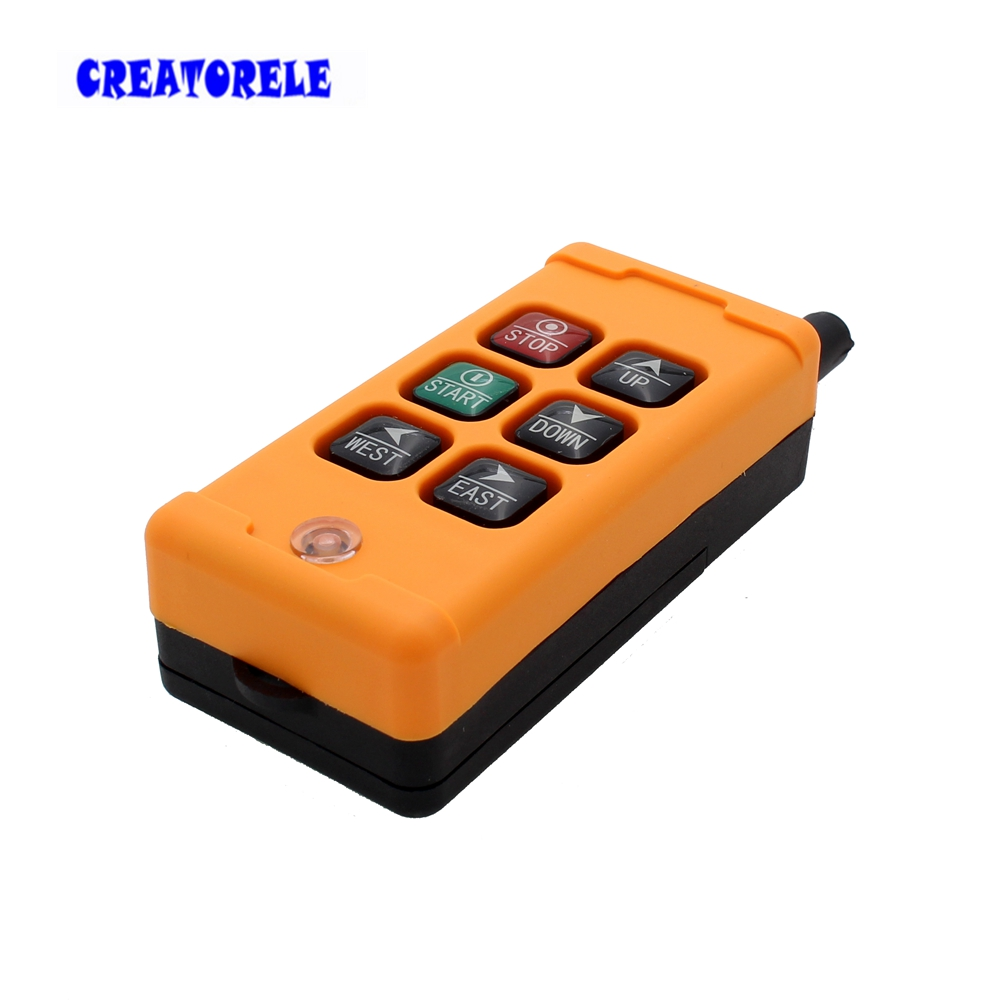 Image 4 - New Arrivals crane industrial remote control HS 6 wireless transmitter push button switch China-in Switches from Lights & Lighting
