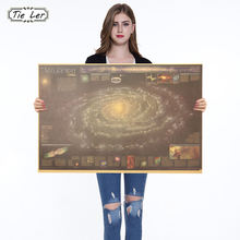 Fantasy Milky Way Nebula Map Kraft Paper Poster Indoor Decoration Wall Sticker Painting Wallpaper 72.5X48.5cm(China)