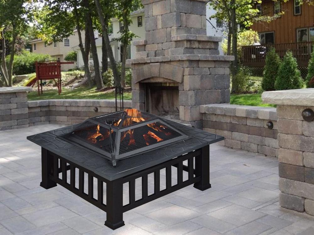 metall 32 feuerstelle terrasse garten hinterhof herd. Black Bedroom Furniture Sets. Home Design Ideas