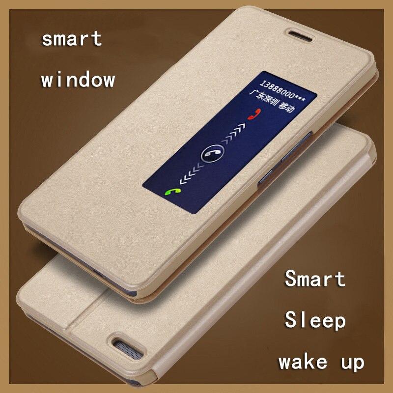 Intelligent Sleep Wake Up Flip Case For Huawei Honor X2 MediaPad X2 Flip Cover Pu Leather Cover Smart Window 7.0