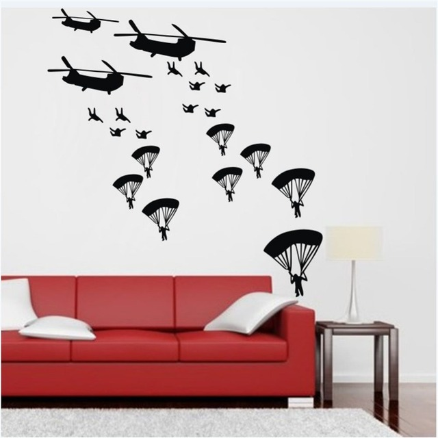 Aliexpresscom  Buy Army Soldiers Vinyl Wall Decal Airplane - Vinyl wall decals airplane
