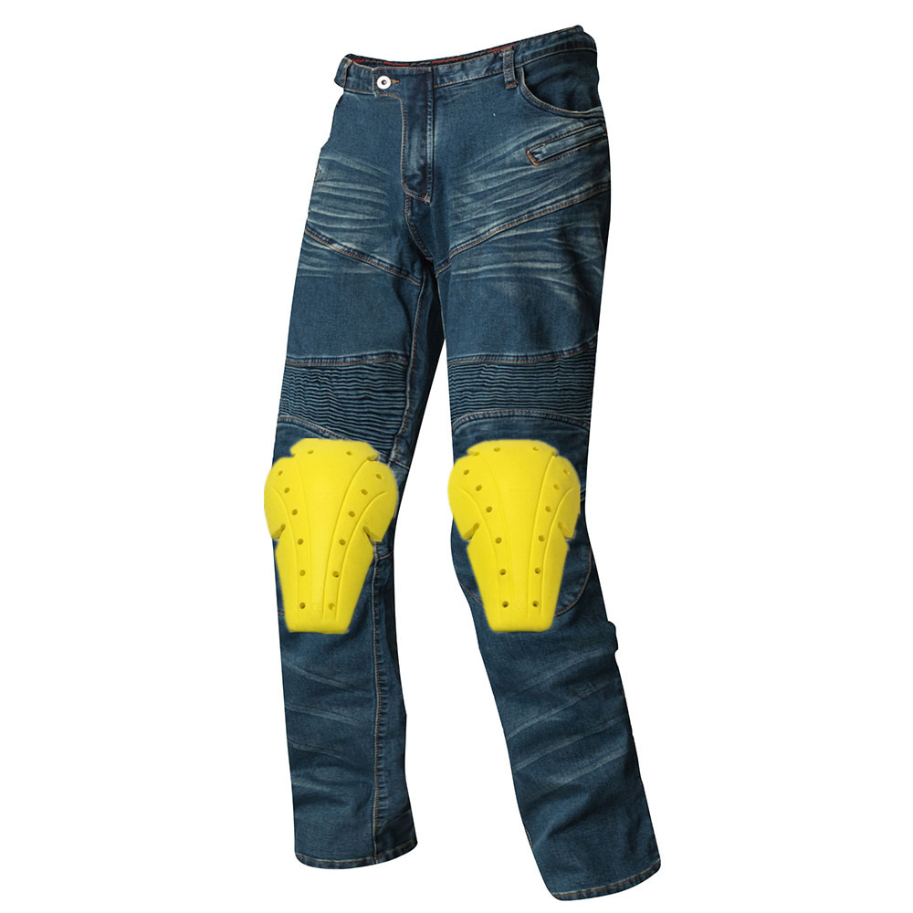 Denim motorcycle trousers Men's jeans motorcycle pants jeans equipement motocross pantalon moto blue black puls size guoran holes ripped jeans pencil pants women s high strech slim denim jeans leggings 26 32 femme pantalon light blue trousers