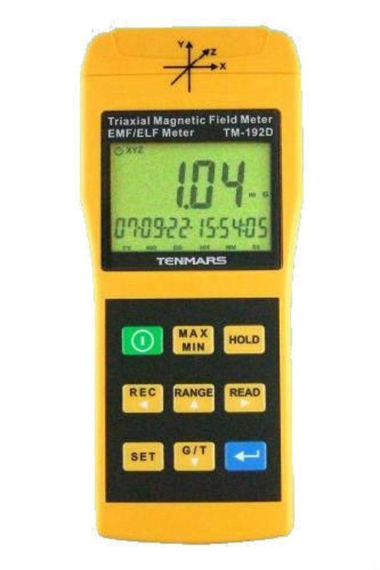 Datalogging 3 axis Magnetic Field Meter tester Fast shipping 4 font b digits b font LCD