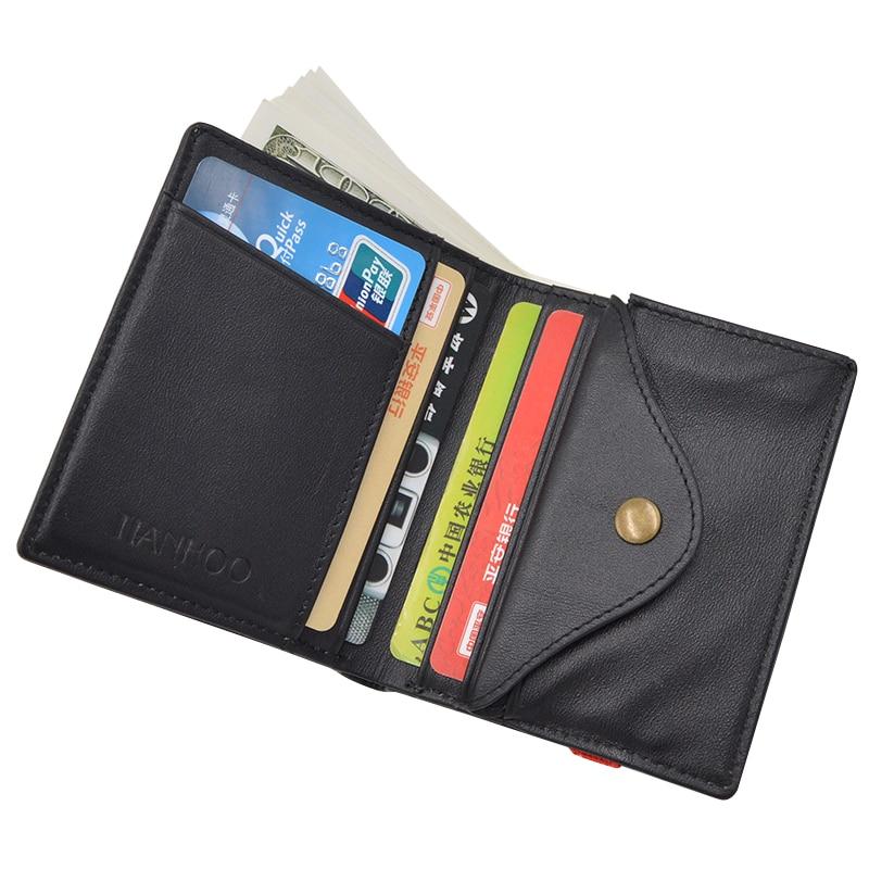 Men's Genuine Cow Leather Wallet Solid Designer Cash Case Cover Card Holder Bag Coin Purse Travel Money Pocket Fashion Simple new big brothers money cigarette card case box holder