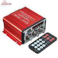 2 Channel Hi Fi 12V Mini Auto Car Power Amplifier Stereo Audio Amplifier Support DVD MP3