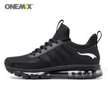 Onemix бег тапки для человека с высоким берцем амортизация для мужчин спортивная дышащая обувь свет открытый прогулки Бег черный, белый цвет