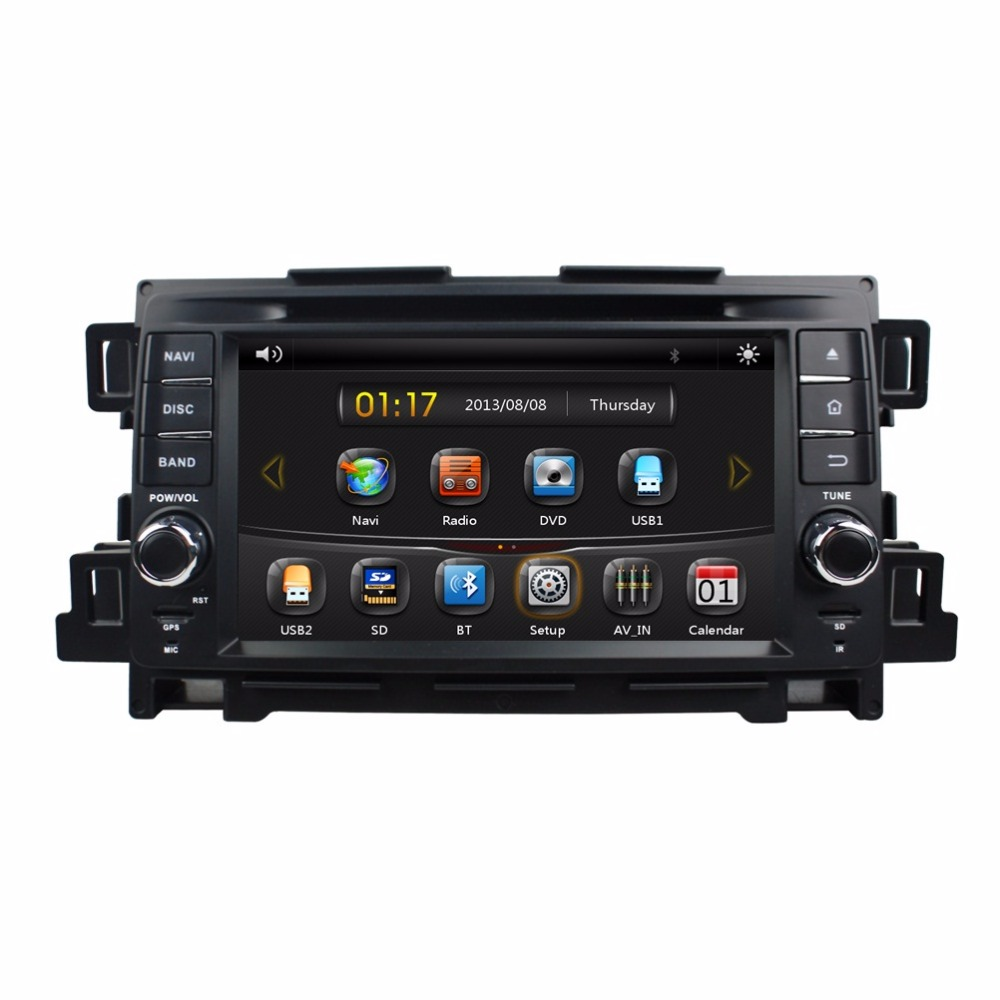 HD 2 din 7″ Car Radio DVD GPS Navigation for Mazda CX-5 CX 5 2012 2013 2014 With Bluetooth IPOD TV SWC USB AUX IN