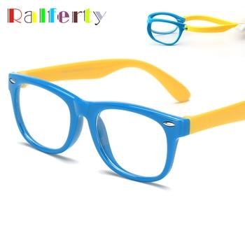 Ralferty TAC Child Kids Transparent Eyeglasses Frame Boy Girl Prescription Optic Spectacle Frames Eyewear Infant Oculos de grau