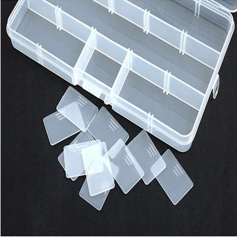 Susenstone 15 ช่องเครื่องประดับปรับได้กล่องเครื่องมือลูกปัดกล่องจัดเก็บกล่องพลาสติกโปร่งใสตกปลา Lure Hook กล่อง #30
