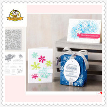 2019 New Christmas SnowFlake Metal Cutting Dies and Clear Stamps for Scrapbooking DIY Card Making Crafts Stencil