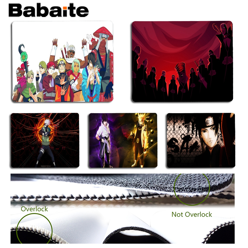 Babaite Naruto Customized laptop Gaming mouse pad Size for 25x29cm Gaming Mousepads