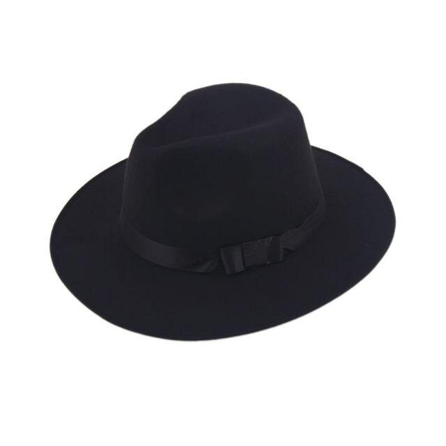 cb195a109475c1 Vintage Men Women Hard Felt Hat Wide Brim Fedora Trilby Panama Hats  Gangster Sun Cap IN Stock