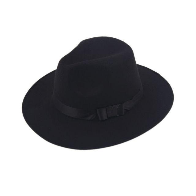 Vintage Uomo Donna Duro Cappello di Feltro A Tesa Larga Fedora Trilby  Cappelli Panama Gangster Cap bc4bc384b3de