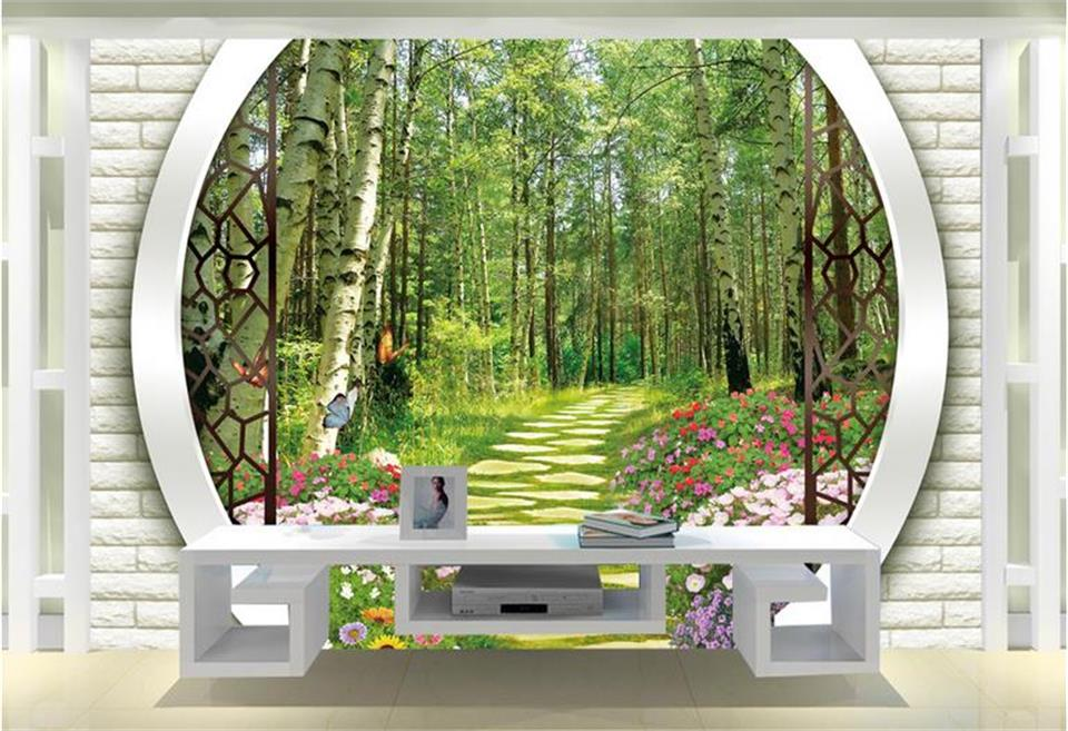 3d wallpaper custom room photo mural birch forest road arches setting wall decor painting 3d wall murals wallpaper for walls 3 d custom photo 3d ceiling murals wall paper classic oil paintings the sky people room decor 3d wall murals wallpaper for walls 3 d