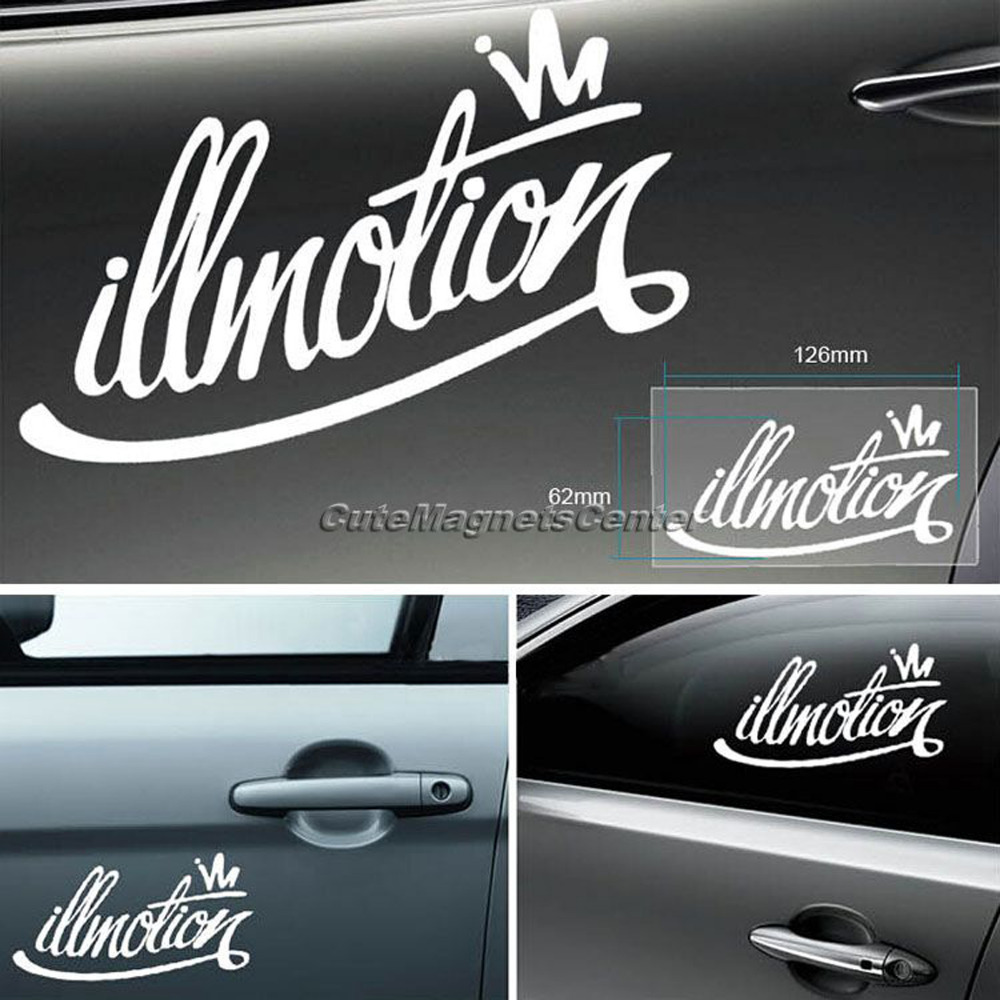 Car bumper sticker design - Car Sticker Styling Vinyl Drift Racing Illest Fatlace Illmotion Decals For Motorcycle Stickers On Cars Window