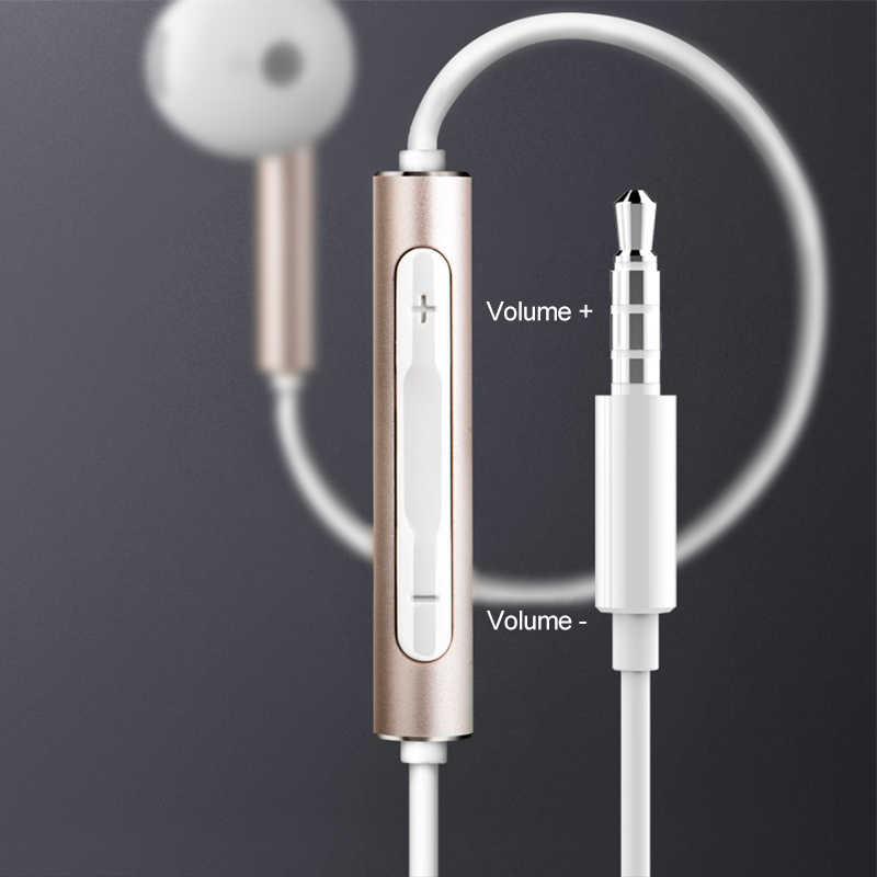 Zestaw słuchawkowy Huawei am116 zestaw słuchawkowy Mic 3.5mm dla HUAWEI P7 P8 P9 Lite P10 Plus Honor 5X 6X Mate 7 8 9 smartfon