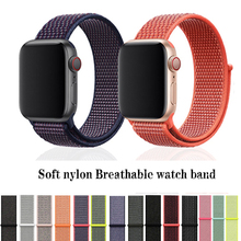 dahase dual colors sport silicone strap for apple watch band series 1 2 3 protect cover for apple watch case 42mm 38mm bracelet Soft nylon watch strap For apple watch band 42mm&bracelet apple watch 40mm sport Loop for iwatch band 44mm Series 4/3/2/1 38mm