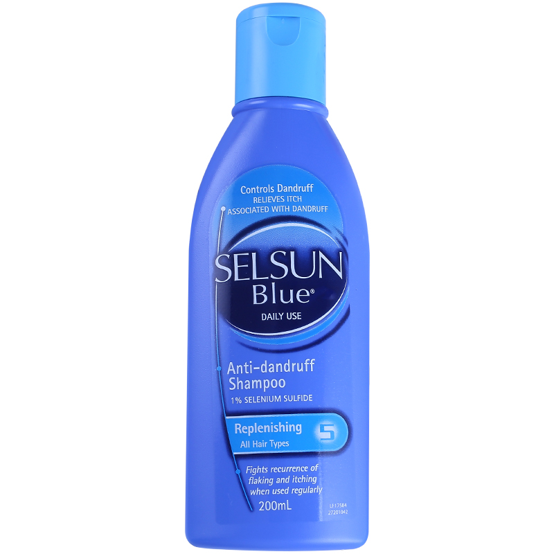 Selsun Blue Dandruff Medicated Shampoo Treatment Anti Dandruff Seborrheic dermatitis Shampoo Relieve Flaking Itching Cools Scalp
